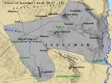 A city map of the tribe of Issachar.