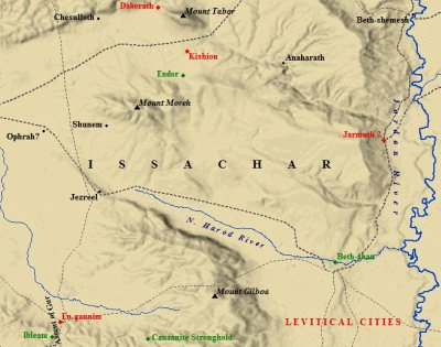 The Levitical cities of Issachar. These cities were set aside for the Levites.