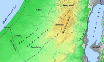The homeland of Jacob and Esau.