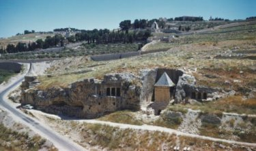 The Valley of Tombs in the Kidron Valley, outsdie the walls of ancient Jerusalem.