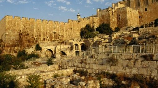 A photograph of the Old City of Jerusalem, taken by David & his men ca. 1000 BC.