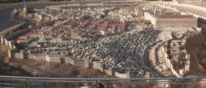 Model of ancient Jerusalem.