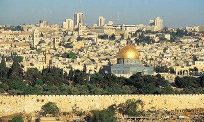 A Picture of the Jerusalem Skyline and Dome of the Rock