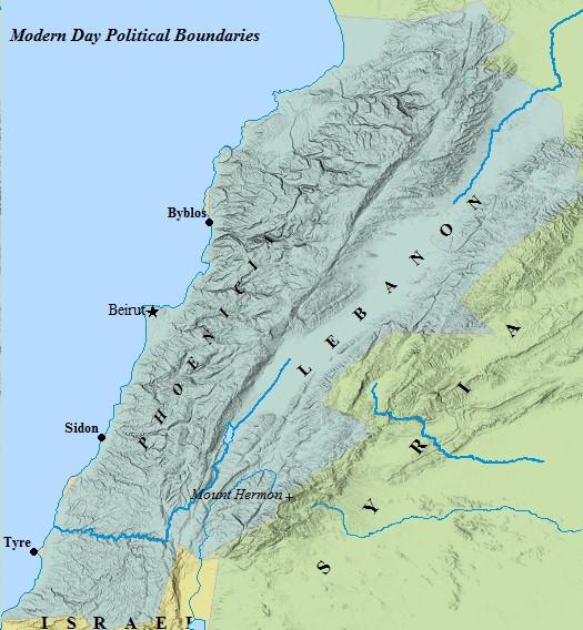 A map of Lebanon