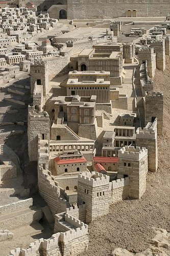 A model of the City of David, or Lower City. This was the original settlement.