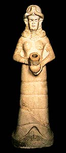 A statue unearthed at ancient Mari
