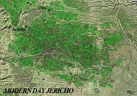 A satellite image of Jericho Israel today.