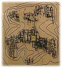 A town map of the ancient Hurrian city of Nuzi.