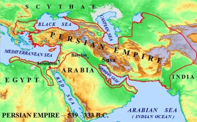 Queen Esther of the Bible: Map of the Perisan Empire