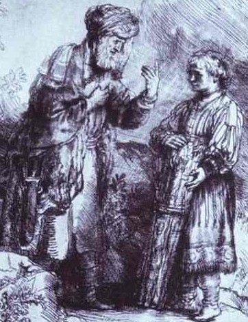 A Rembrandt of Abraham and Isaac