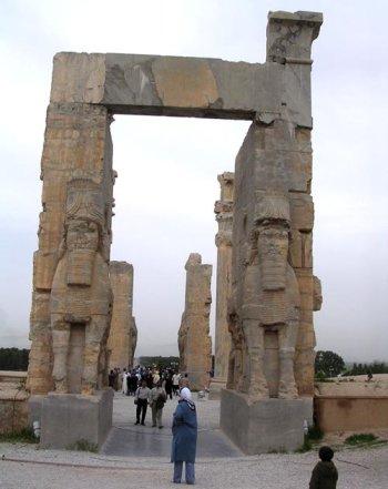 Ruins from Dariu's palace in Persepolis, ca 515 BC.