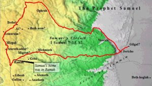 A Map of the Circuit of the Prophet Samuel