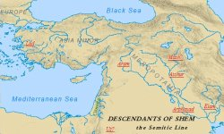 Sons of Noah: Map of Shem's descendants