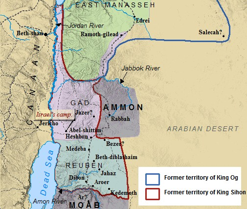The Tribe Of Gad - Where is jordan located