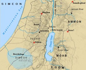 A map of the Tribe of Simeon.