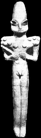 An Ancient Sumerian Idol dated to ca 3500 BC
