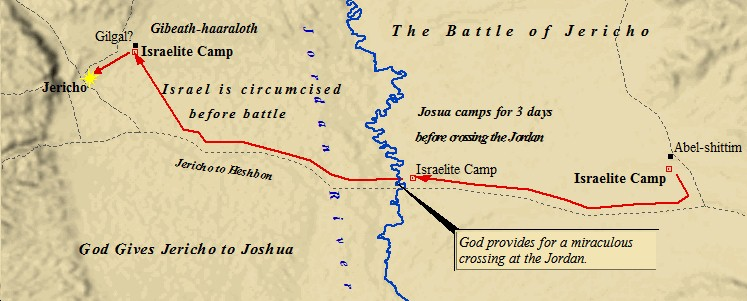 Detailed map of the Battle of Jericho.