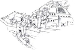 A sketch of the ancient city of Ugarit