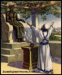 King Ahaz worships the god Baal.
