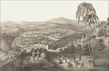 A drawing of ancient Jerusalem.