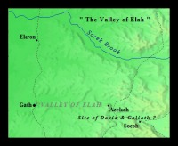 Map of David and Goliath