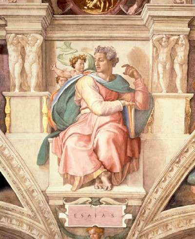 Isaiah on the Sisten Chapel ceiling by Michaelangelo
