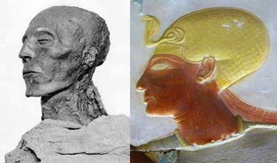 Seti son of Ramses I, became pharaoh 1320 BC