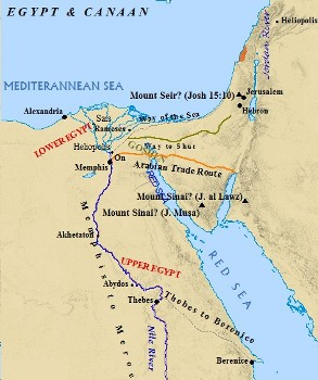 Map of Upper and Lower Egypt