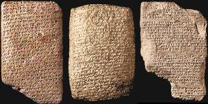 The Amarna Letter original tablets.