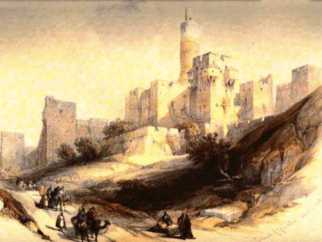 An Artistic Rendition of Ancient Jerusalem