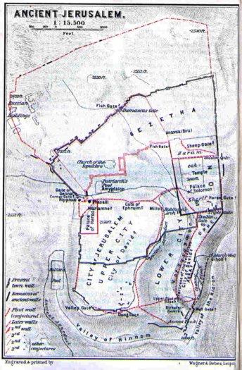 A sketch of ancient Jerusalem.