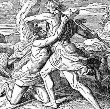 An Artist's Sketch of Cain Killing Able