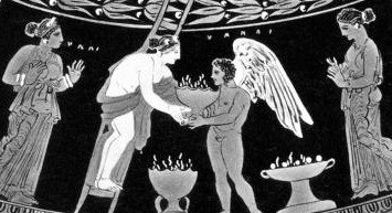 A depiction of the ancient festival of Adonis.