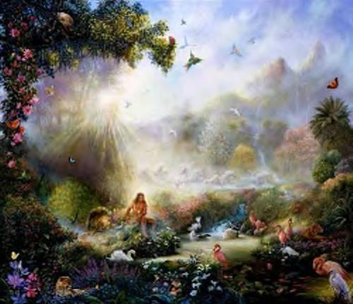 A Painting of the Biblical Garden of Eden