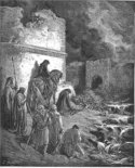 Dore's painting of the Dung Gate during the time of Nehemiah.