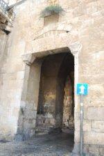 The entrance of the Zion Gate leading into Jerusalem.