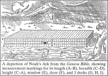 A depiction of Noah's Ark from the Biblical Flood in Genesis