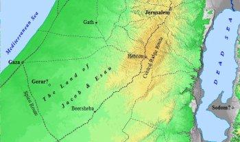 Homeland of Jacob and Esau.