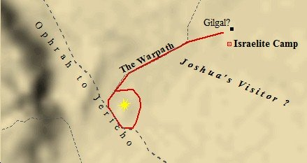 A Map of Joshua's Warpath in the Battle of Jericho