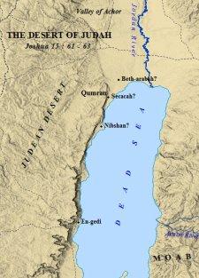 A map of the Judean desert.