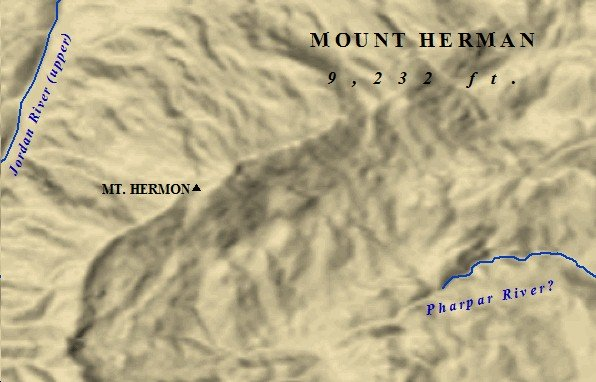 The  peak of Mt. Hermon.