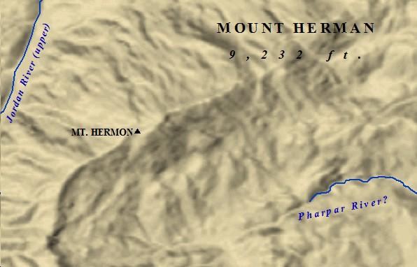 The  peak of Mt. Hermon.