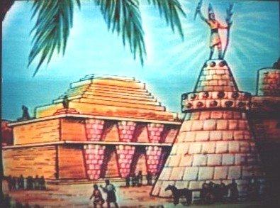 An artist's interpretation of Sodom and Gomorrah.