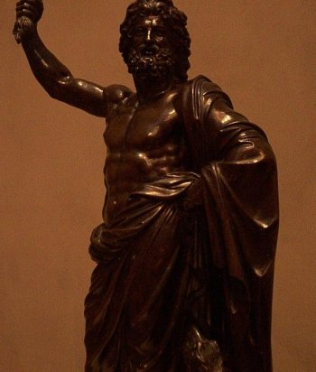 The Roman god Jupiter, known also as the Greek god Zeus.