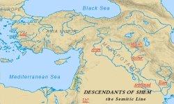Lands settled by Shem's descendants.