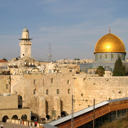 The Temple Mount with the Golden Dome of the Rock as it appears today.