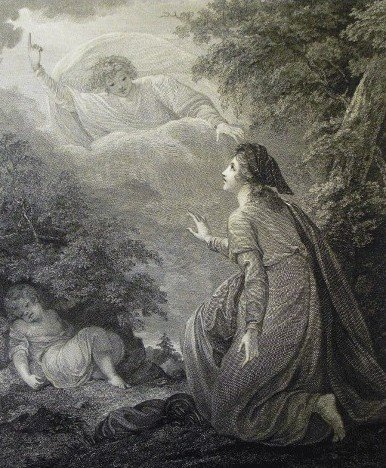 The Angel of the Lord answers Hagar's call in the desert.