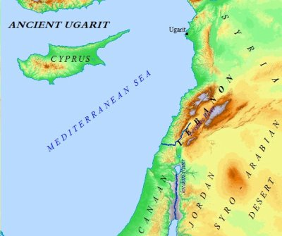 Ancient Ugarit jutted out into the Mediterranean Sea, leading way to trade and export for all of Canaan & the Levant.