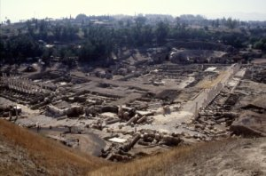 Ruins from the ancient city of Bethshan, a city within Issachar.