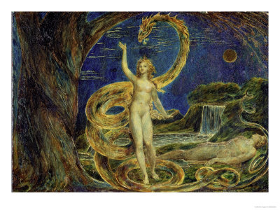 William Black depicts Eve tempted by the Serpent